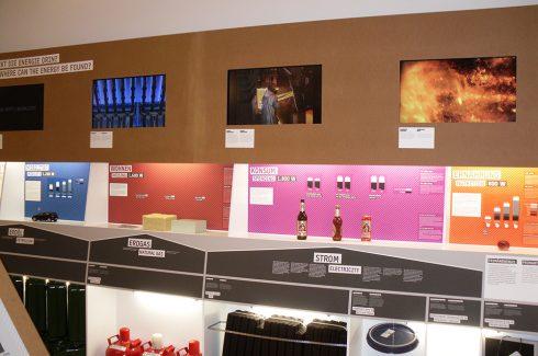Ausstellung mit Medientechnik: Monitore