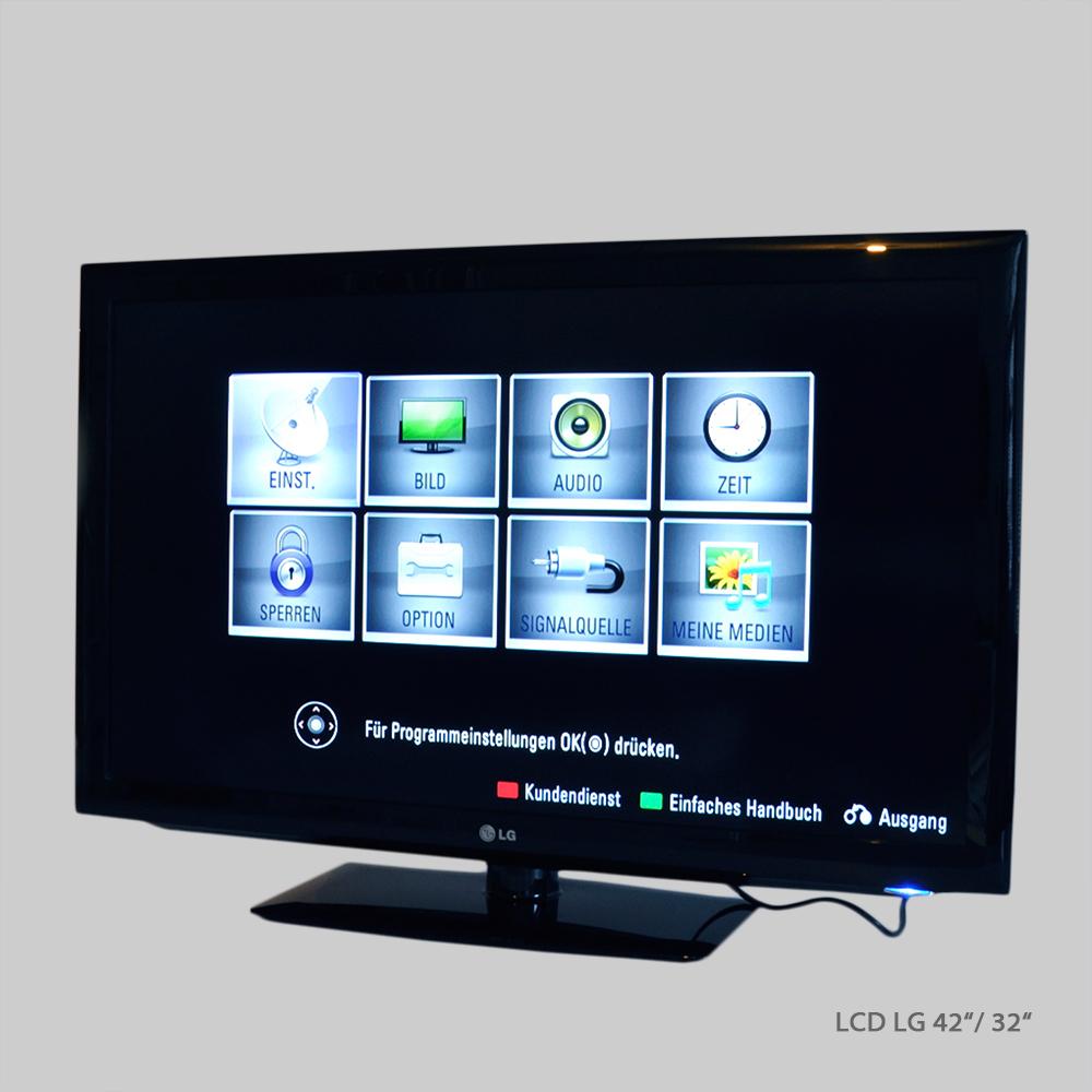 Mietmaterial Medientechnik Monitor LCD LG