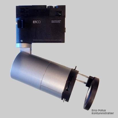 Technik, Material: Konturenstrahler Erco Pollux