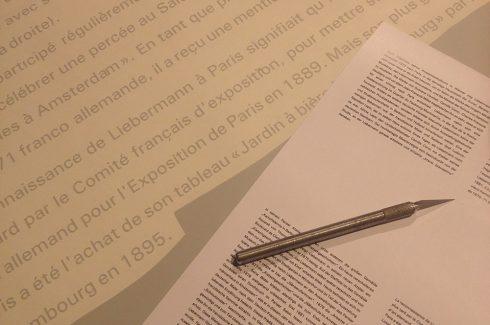 Produktion Folienschrift für Ausstellung