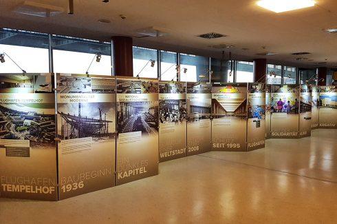 Mobiles Wandsystem ehem. Flughafen Tempelhof